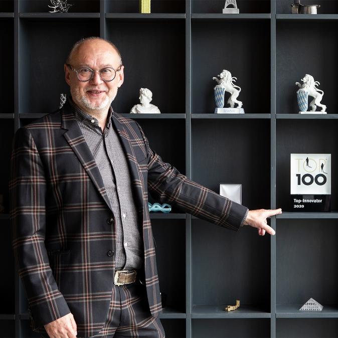 Carl Fruth mit dem TOP Innovator Award 2020
